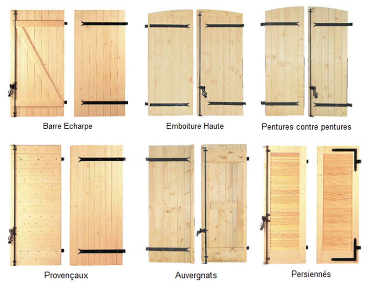 volets battants en bois. Black Bedroom Furniture Sets. Home Design Ideas