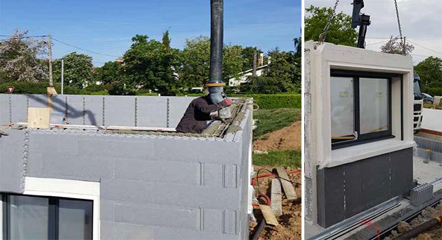 Bloc baie pour construction banche