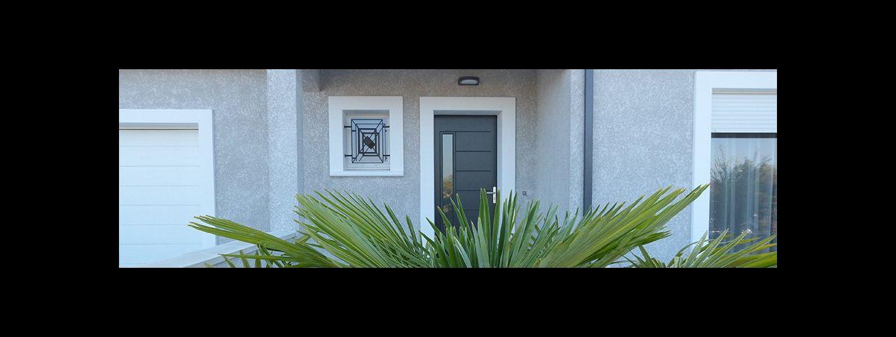 Porte d'entrée bloc baie Décor